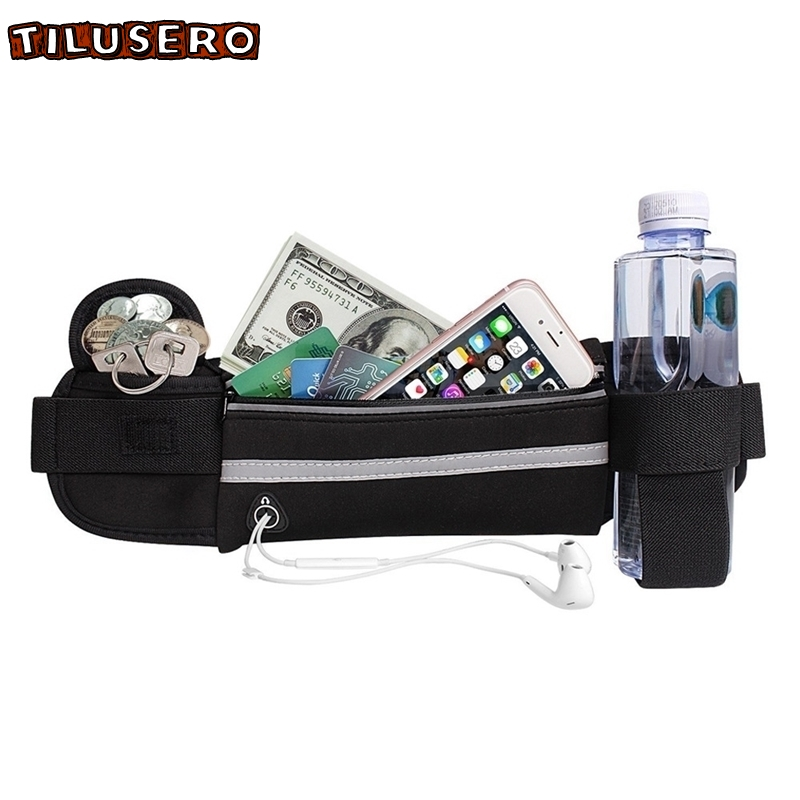 2019 New Fashion Waterproof Fanny Pack For Women Men Portable Convenient USB Waist Pack Travel Multifunctional Phone Belt Bag