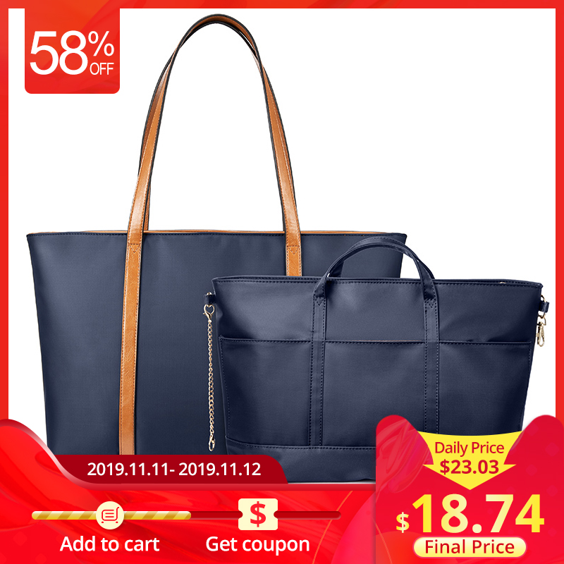 LOVEVOOK  Women Handbags High Quality Laptop Shoulder Bag Set Travel Bag For Ladies Waterproof Oxford Nylon Tote Bag Minimalist