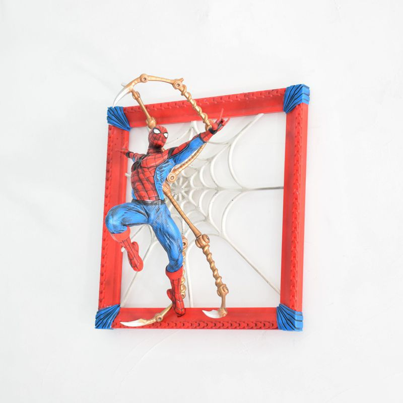 Anime 37cm TheAvengers: Infinity War Wall Hanging Spider Man Photo Frame A/B PVC Action Figure Collectible Model Toys Gift