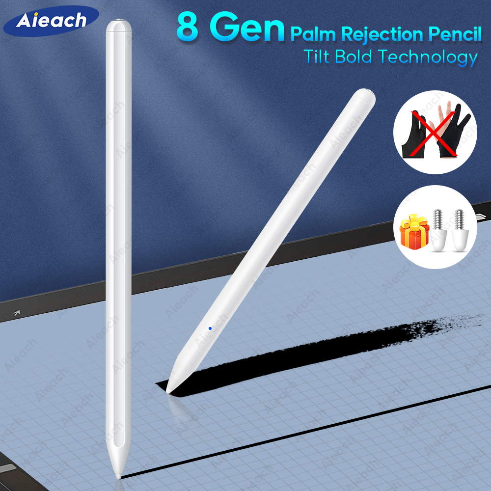 For Apple IPad Pencil 2 With Palm Rejection Tilt Sensitivity Stylus Pen For IPad Pro 11 12.9 2020 2018 Air 3 /6th 7th Gen Mini 5