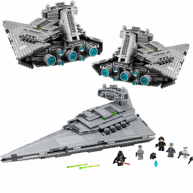 In stock 05062 Legoingly Star Wars The Imperial Super Star Destroyer Building Blocks Bricks Toys Compatible with Star War 75055