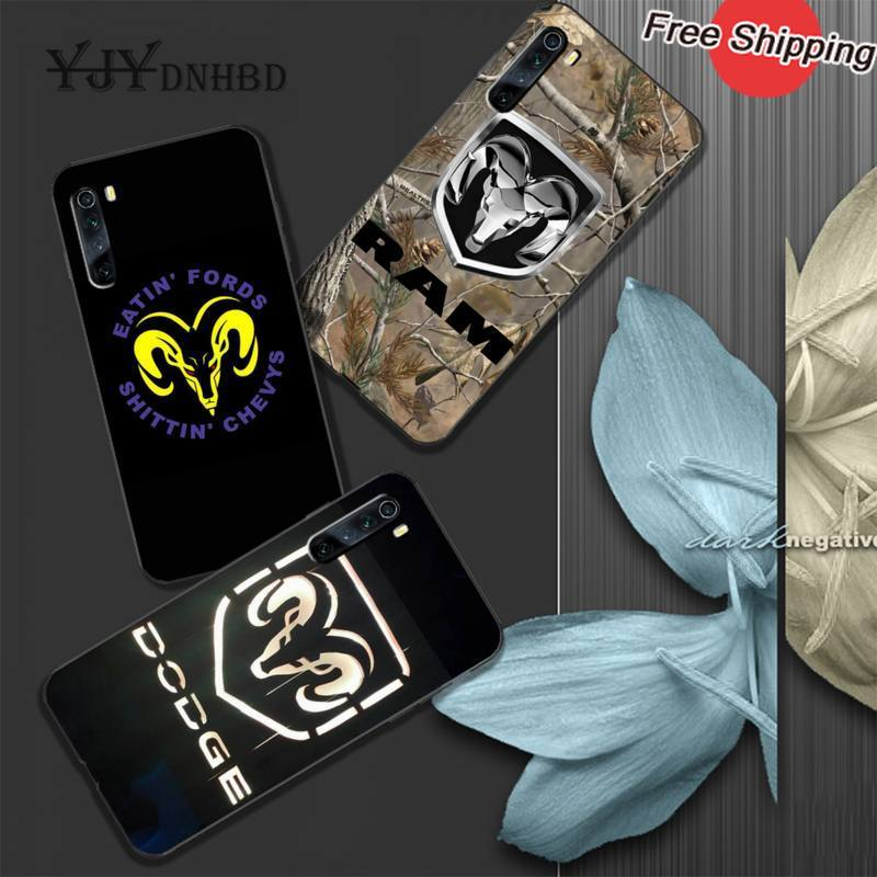 YJYDNHBD Dodge soft TPU black case cover for xiaomi redmi 4X 5 plus 6 6A 7 7A 8 8A 9 note 4 8 T 9 pro max coque