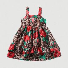 Летние платья для детей с цветочным принтом девочек платье на