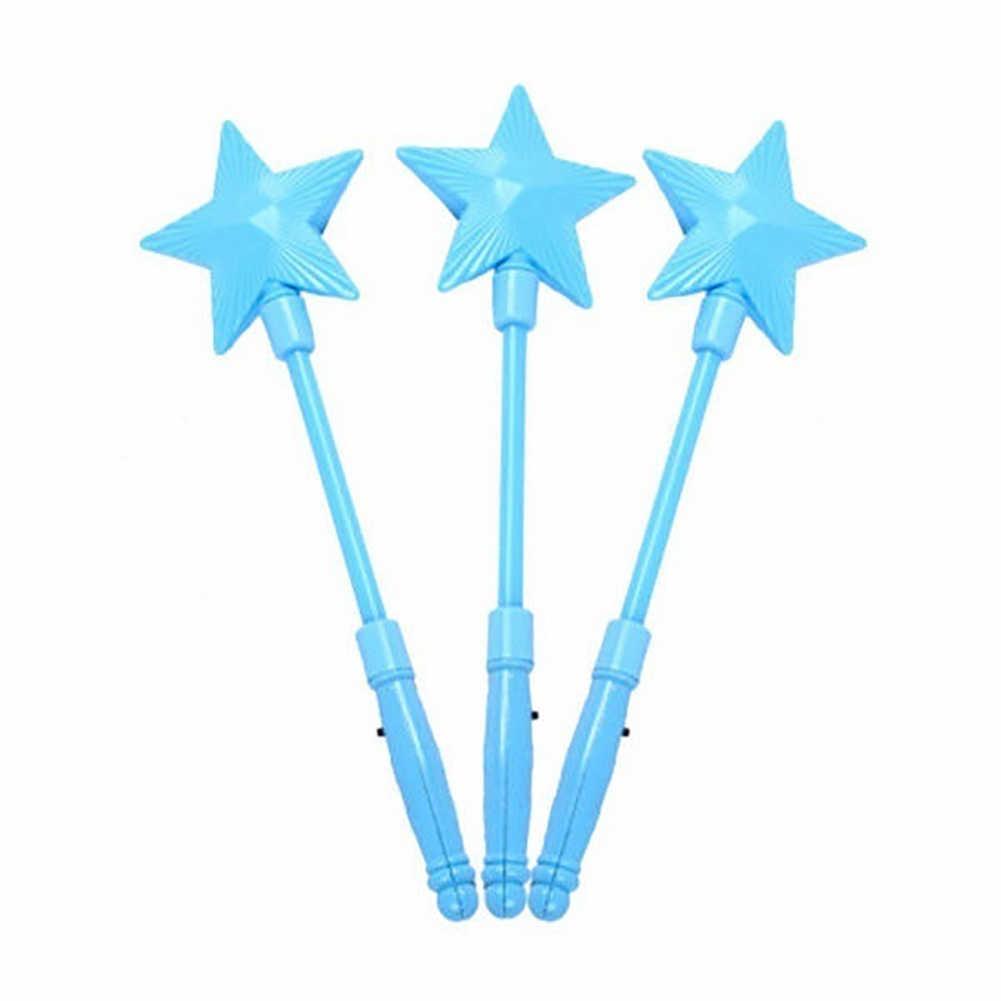 คริสต์มาสของขวัญแฟชั่น LED กระพริบ Glow Stick Wand Five-pointed Star Fairy Wand ของเล่นเด็ก Star Shape, luminous,เด็กของเล่นร้อน