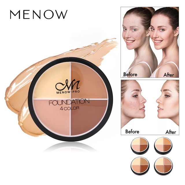 MENOW 4 colors Concealer Stick Foundation Makeup Full Coverage Contour Face Concealer Cream Base Primer Moisturizer Drop ship