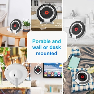Image 5 - Portable CD Player with Bluetooth Wall Mountable FM Radio Built In HiFi Speakers with Remote Control Headphone Jack
