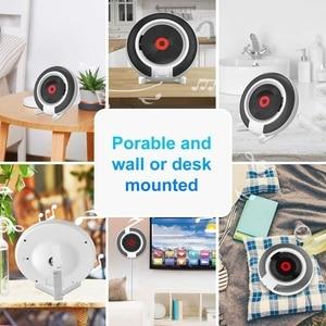 Image 5 - Taşınabilir CD çalar Bluetooth ile duvara monte FM radyo dahili HiFi hoparlörler uzaktan kumanda kulaklık jakı