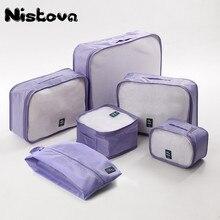 Organizer Luggage-Bags Packing Travel Sorting Hand-Clothing Large-Capacity Unisex Cubes-Set
