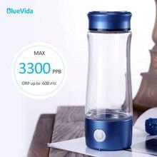 DuPont-botella generadora de agua rica en hidrógeno y titanio coreano N324, superantioxidante, ORP 3300ppb H2, generador de agua con inhalador
