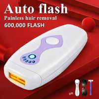 600000 flash IPL epilator laser hair removal permanent photoepilator depiladora women painless threading hair remover machine