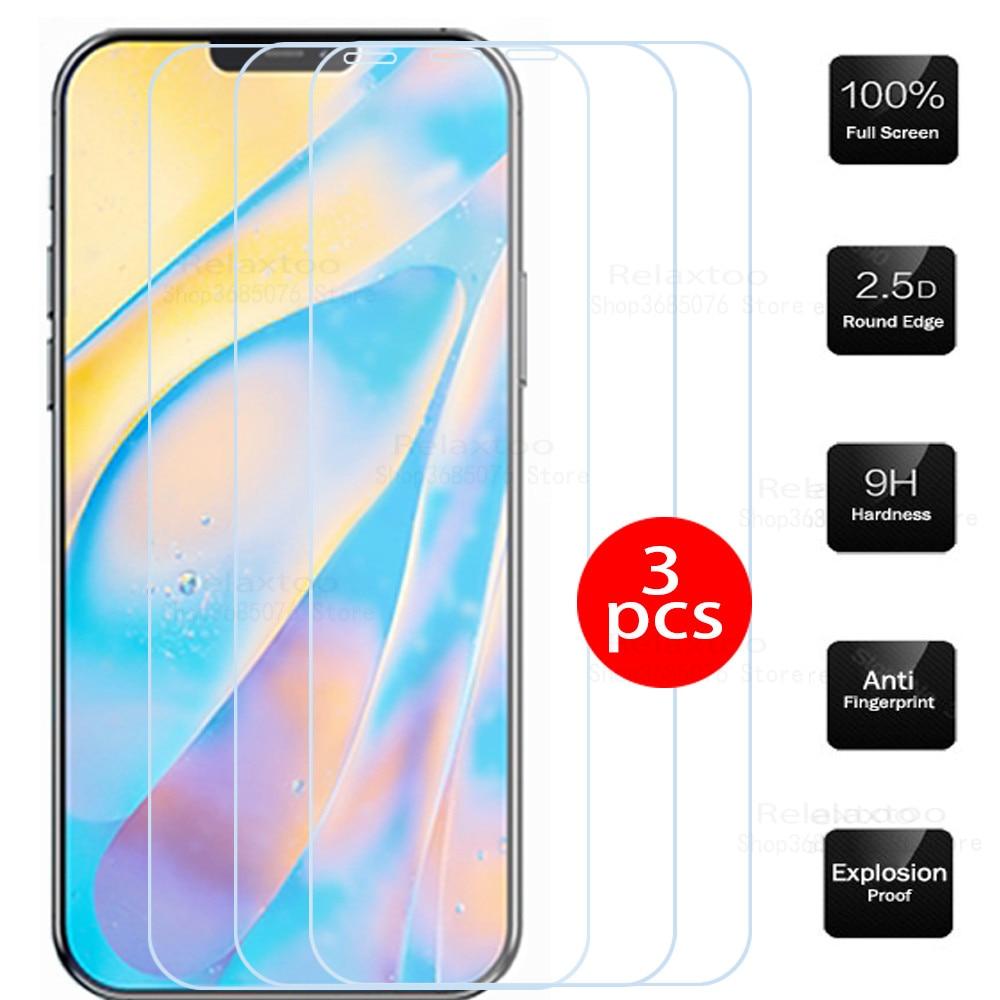 Защитное стекло для apple iphone 12 mini, 3 шт., закаленное стекло для iphone 12 pro max, защитная стеклянная пленка для iphone 12