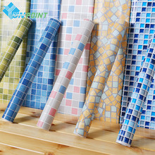 45cmX5m Self adhesive Mosaic PVC Vinyl Wall Stickers Waterproof Wallpapers for Bathroom Kitchen Poster Wall Decals Home Decor(China)
