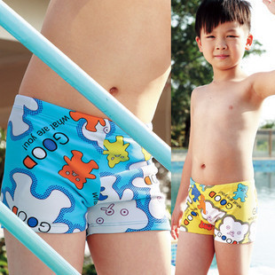 CHILDREN'S Swimming Trunks Quality Great Cute Little Bear Pattern Baby Boxer Swimming Trunks