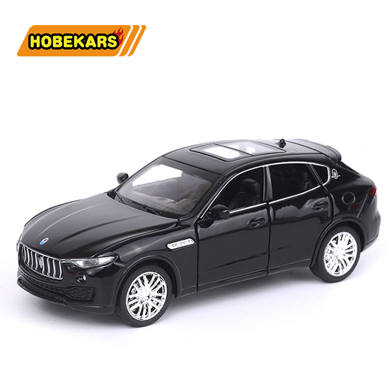 Diecast Car SUV Maserati Levante 1:32 Model Metal Alloy Car Simulation Pull Back Vehicles Cars Toys For Kids Gifts For Children