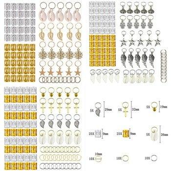 80/90/100pcs Gold Silver Hair Ring Braid Dreadlocks Bead Cuffs Dread Tube Charm Dreadlock Accessaries Extension - discount item  30% OFF Hair Tools & Accessories