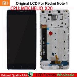 AAA oryginał do Xiaomi Redmi Note 4 LCD dotykowy Digitizer Redmi Note 4 ekran LCD i komplet Digitizer z ramką na
