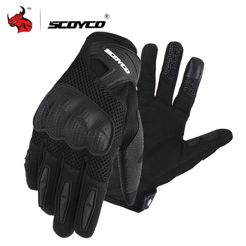 SCOYCO Motorcycle Gloves Summer Breathable Mesh Moto Gloves Touch Function Motorbike Gloves Motocross Off-Road Racing Gloves free shipping newest mad bike stainless steel off road motorcycle gloves male summer automobile race knight gloves motorcycle