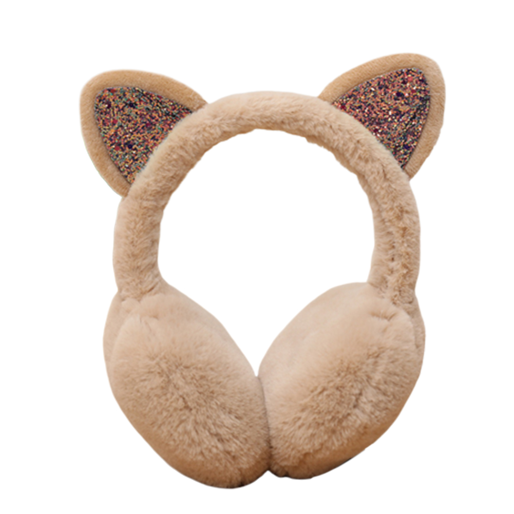 Fashion Women Ears Sequins Plush Earmuffs Earflap Earcap Winter Ear Warmer Earmuffs Headband Newest