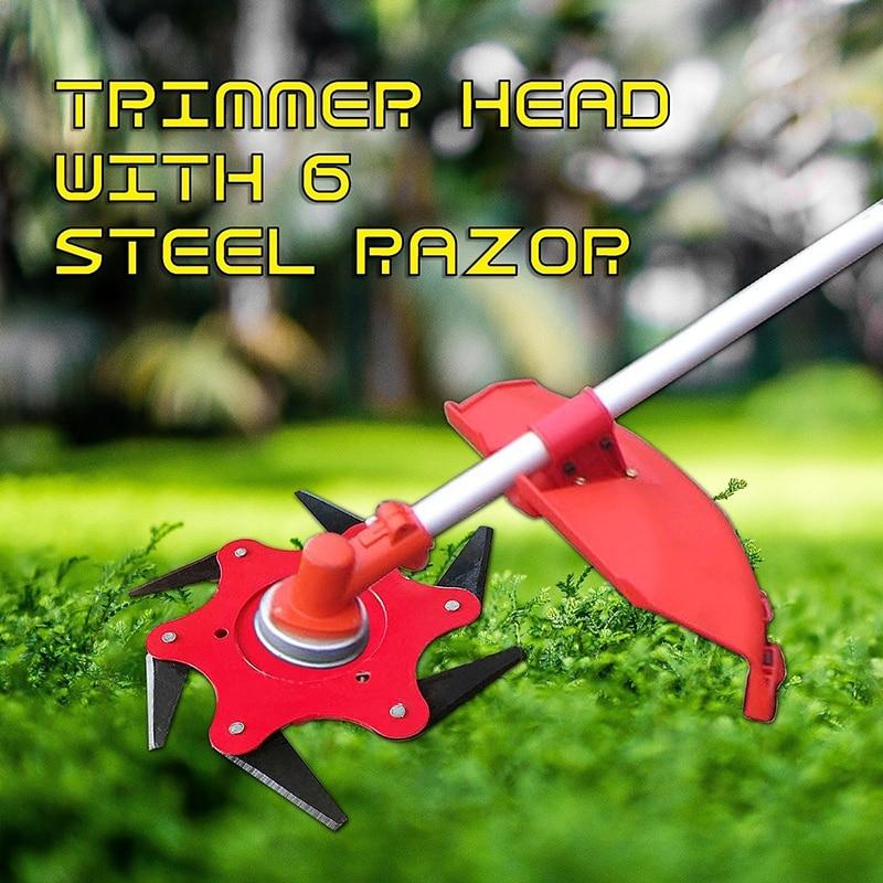 6 Steel Razor Grass Trimmer for lawnmover Trimmer Head 65Mn Garden tool parts Grass Trimmer Head  brushcutter replacement