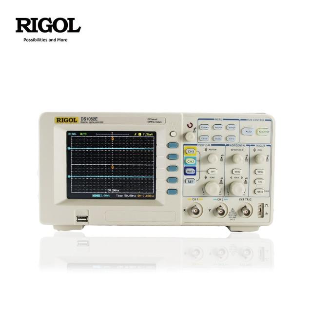 Rigol DS1052E 50MHz عرض الفرقة 2 قناة ملتقط الذبذبات الرقمي + مسبار الجهد العالي