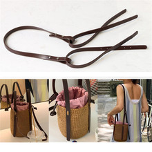 High Quality PU Leather Handbag Shoulder Handle Strap Brown Black Long Shoulder Strap for DIY Handmade Woven Bag Accessories