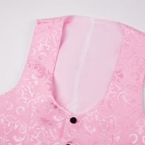 Image 4 - Pytrl 남자 클래식 목도리 옷깃 2 조각 웨딩 신랑 자카드 턱시도 핑크 옐로우 블랙 레드 퓨어 화이트 슬림 피트 자켓과 조끼