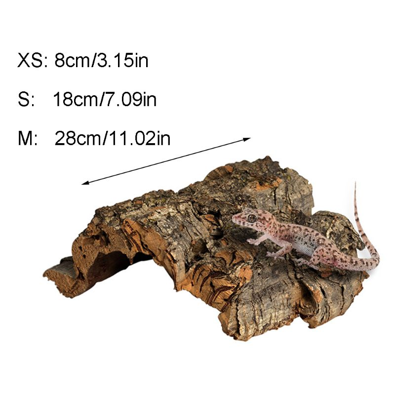 Réptil escalada cortiça casca natural árvore de madeira habitat lagarto aranha pequeno animal esconder lugar suprimentos para animais de estimação terrários paisagismo