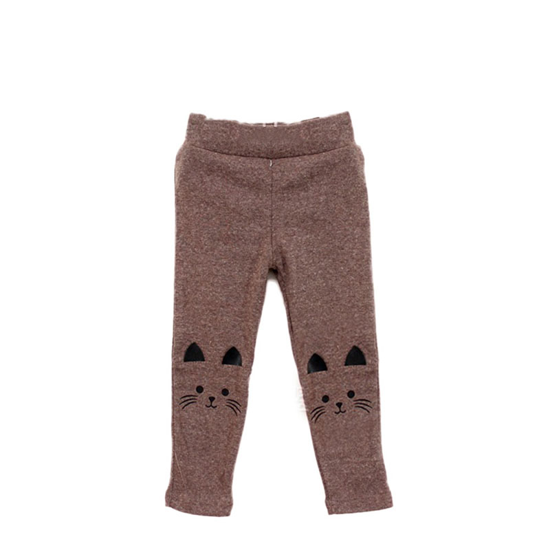 Cute Rabbit Printed Girls Child Pants Winter Autumn Bottoms Kids Baby Toddler Inside Warm Fleece Leggings Trousers 25