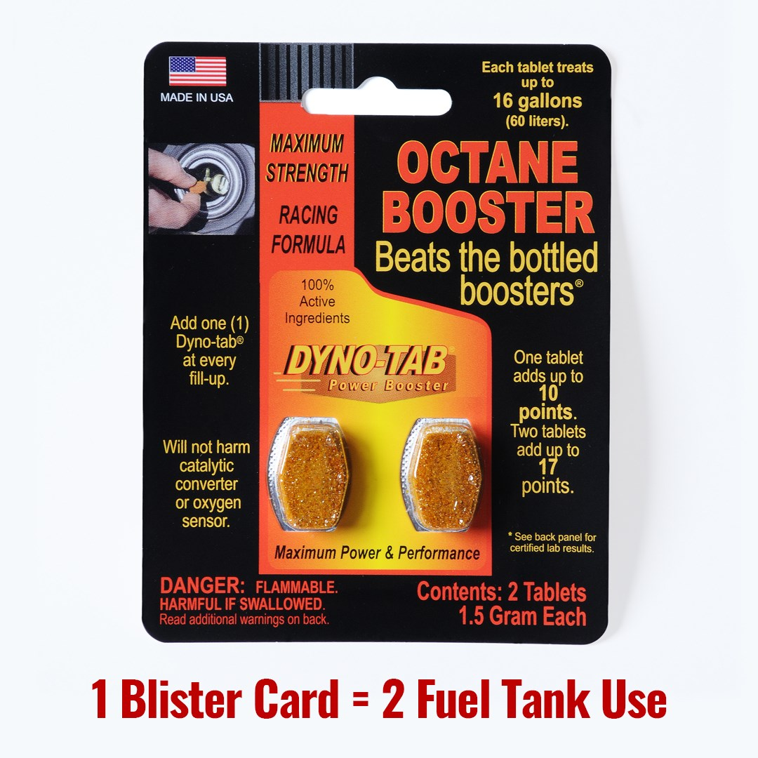 Dyno Tab Fuel Octane Booster Gasoline Petrol Of The Fuel Economy Carbon Cleaner (Made In USA)