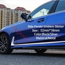 Наклейка на автомобильное боковое крыло, наклейка на эмблему BMW M Performance Power X1 X3 X5 X6 E84 E83 F25 M3 E90 E91 E60 F15 F16 E70 F30 F10, 2 шт.