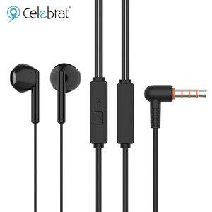 Оригинальные проводные наушники celebat Super Bass, стерео музыкальные гарнитуры с шумоподавлением, игровые наушники-вкладыши для Xiaomi Huawei