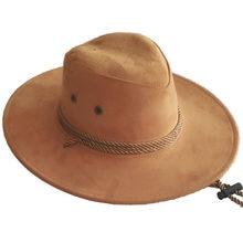 Plain Solid Color Men Cap Big-edge Western Rope Rider Cowboy Hat