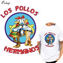 Fashion Breaking Bad Thermo Stickers On Clothes LOS POLLOS Hermanos Heat Transfers Adhesive For Clothing Accessories Stripes printio плакат a3 29 7×42 los pollos hermanos