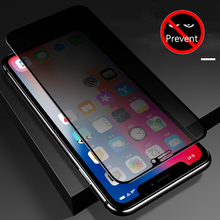 High Definition Protective Glass on the For iPhone 7 X XR XS 11 Pro Max Anti-Spy Screen Protector 8 6 6S Plus