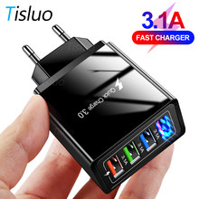 USB Charger Quick Charge 3.0 For Phone Adapter for iPhone 12 Samsung S10 Xiaomi Huawei Tablet Wall Mobile Charger Fast Charging
