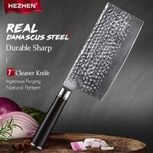 HEZHEN 7 inches Nakiri Chef Knife 67-Layer Damascus Nakiri Kiritsuke Sushi Knife For Meat  Japanese Cooking Tools Kitchen Knife