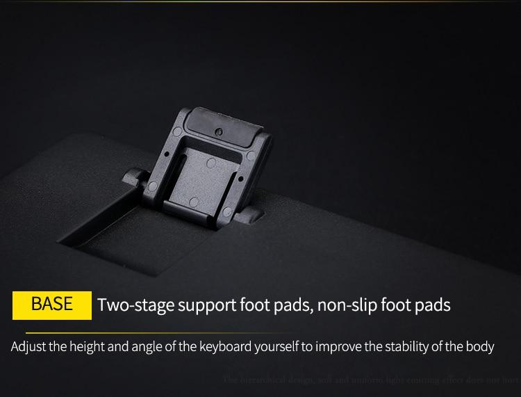 1505 backlit teclado mecânico com fio desktop