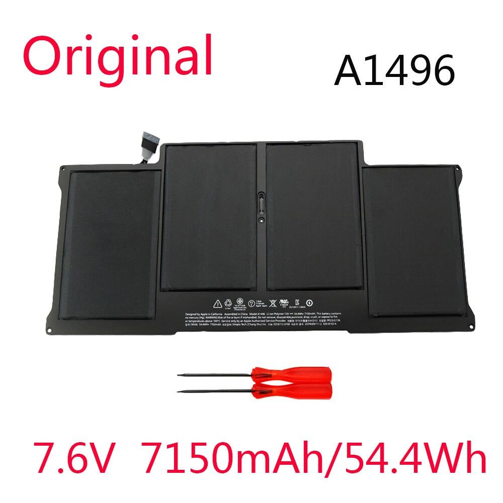 Оригинальный новый аккумулятор A1496 7,6 В 7150 мАч для Apple MacBook Air 13