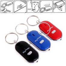 Wireless Whistle Key Finder Keychain For Women Men Anti-Lost Device Keyrings Electronic Anti-Theft Ellipse Plastic Key Search стоимость