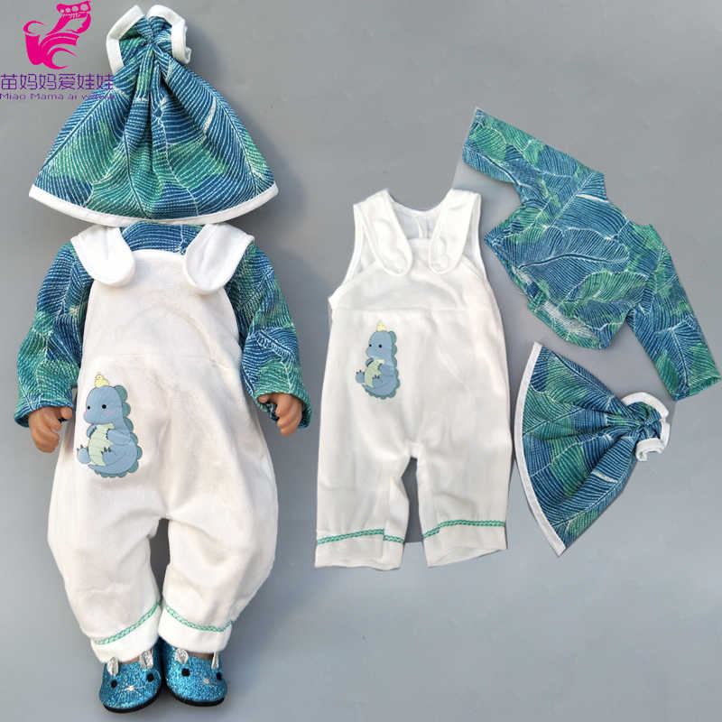 "Doll clothes pants flamingo romper clothes for  baby doll wear sets for 18"" new born baby doll accessories toys wear"