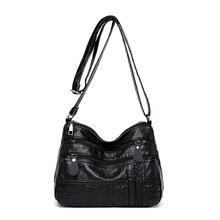 Новая женская однотонная сумка через плечо дикая модная женская многослойная Повседневная сумка-мессенджер женская сумка через плечо на молнии Bolsa Feminina