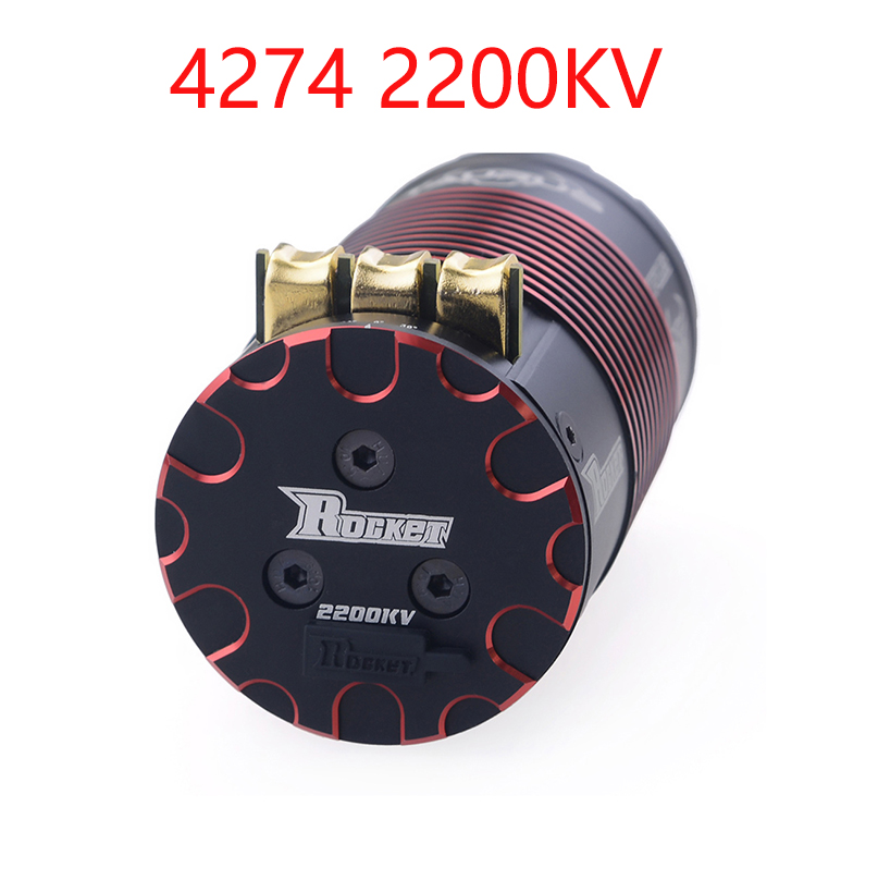Rocket 4268 4274 V2 2700KV 2350KV <font><b>2000KV</b></font> 1850KV 1550KV 2200KV 1950KV Sensored Brushless <font><b>Motor</b></font> for 1/8 RC On-road Off-road Car image