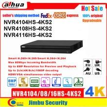 Сетевой видеорегистратор Dahua NVR P2P 4K Сетевой Видео Регистраторы NVR4104HS 4KS2 NVR4108HS 4KS2 NVR4116HS 4KS2 4CH 8CH 16CH 1U 4K и H.265/H.264 DVR