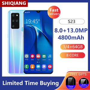 Global Version SOYES S23 Mobile Phones 3/4+64G 6.3Inch Cell Phones 4G LTE Smartphone 4800mAh 8+13MP Android 9.1 Octa Core Phone