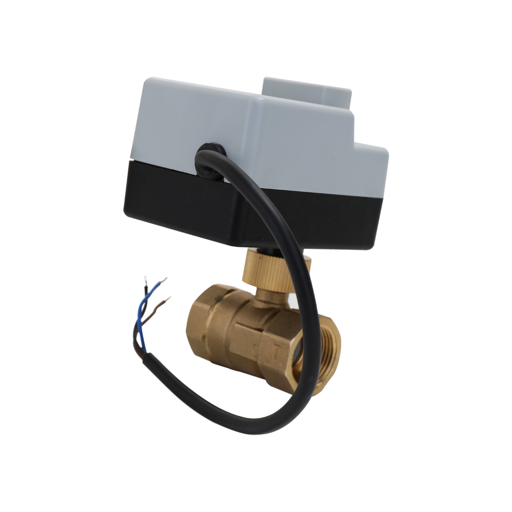 AC 220V Brass Motorized Ball Valve DN15 DN20 DN25 Electric Actuato With Manual Switch Energy-saving Actuator Motor