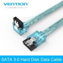 Venção 3.0 Sata 7pin Cabo de Dados Super Velocidade unidade de Disco Rígido HDD SSD Sata III Ângulo Direito para ASUS Gigabyte MSI Motherboard 50cm
