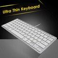 Тонкая портативная клавиатура CHYI Mini  Usb-кабель  проводная  ультратонкая  для ПК  компьютера  белая клавиатура для ноутбука  эргономичная офис...