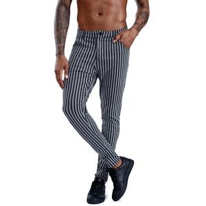 Image 2 - Pantalon slim à carreaux pour hommes, Streetwear à la mode, survêtement pour hommes, jogging serré, collection 2020