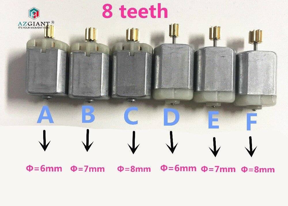 AZGIANT 7kinds Of 8 Teeth For FC280 Car Door Lock Motor Review Mirror Motor, Car Steer Motor, Lock Actuator Motor Pinion