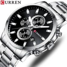 Chronograph CURREN Top Watch Men Brand Quartz Luxury Fashion Men's Watches Steel Waterproof Sports Wrist Watch Relogio Masculino все цены